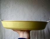 Vintage Le Creuset France Large Au Gratin Casserole Pale Yellow LeCreuset SALE