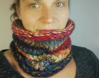 Rainbow multicolor tube scarf