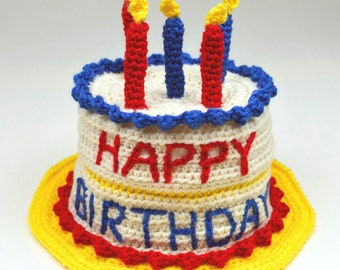 Birthday Cake Hat - 5 Sizes - PDF Crochet Pattern - Instant Download