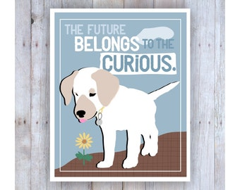 Classroom Art, Childrens Wall Art, Lab Art, Puppy Dog, Classroom Decor, Inspirational Art, Motivational Art, Print for Kids, Pet Lover