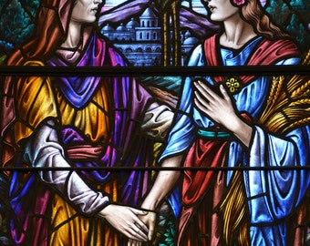 Friendship - Fine Art Print of Antique Stained Glass Window