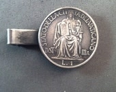 Vintage 1942 Pope Pius X11 1 lire Coin Tie Bar, Papal Collectibles, Tie Bars, Roman Catholic Collectibles, Vintage Pope Pius X11, *USA ONLY*
