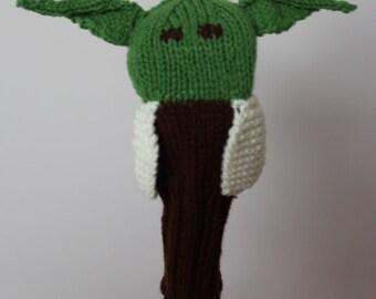 SALE, Yoda, Star Wars, Golf Club Cover, Golf Headcover, Golf Head Cover, Knit, Knitted Golf Headcovers, Gifts For Men, Golf Gift