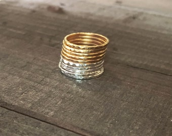 RESERVE Gold Stacking Ring Sterling Silver Stacking Ring