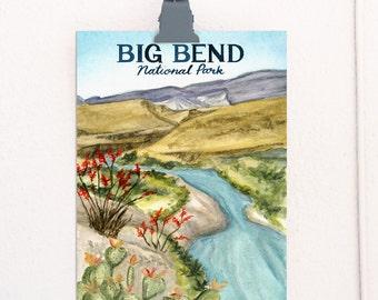 Big Bend, Texas National Parks Travel Poster