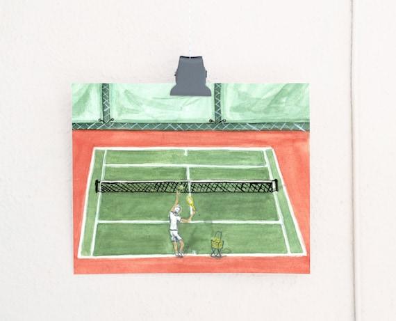 Ace! Tennis Art Print