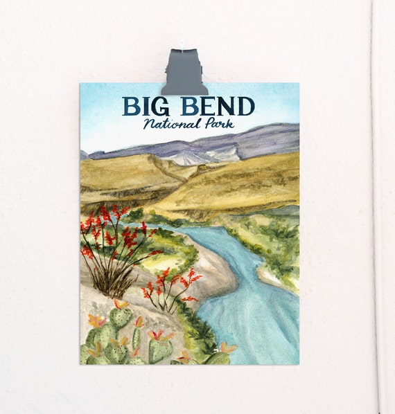 Big Bend, Texas National Parks Travel Poster