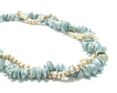Pearly Blue Hawaiian Seashell  Necklace