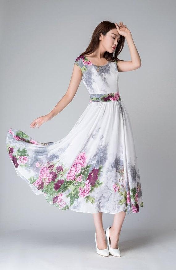 items similar to white floral dress prom dress print