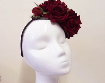 Red Rose Headpiece