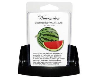 SALE - WATERMELON Melts - Wax Tarts - Soy Tarts - Candle Tarts - Melting Tart - Scented Tart - Tart Melt - Wax Melt - Clamshell - Dye Free