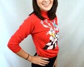 Vintage 90s Tiny Toons Red Mini Kids Sweatshirt
