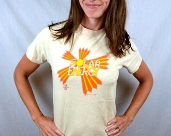 RARE Vintage 70s 1970s SOLAR ENERGY Greenpeace Environmental Nature 1979 Tee Shirt Tshirt