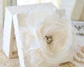 Custom Order for Julia ~ Ring Bearer Box with Pillow Insert