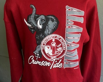 Alabama Crimson Tide 1980s vintage sweatshirt - size extra large