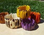 Palitos or sticks tagua bracelet/natural tagua marble/ by Allie /many colors/tagua jewelry/tagua stretch  bracelet