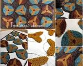 Punch Needle Pattern - Primitive Pinwheels - #PN534 - Needlepunch Embroidery