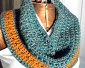 Teal Crocheted Cowl/Shoulder Warmer for Women/Teens by AngelAndFairyDesigns on Etsy.com