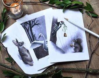 Winter Woodlands - Holiday Greeting Card Set