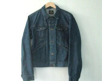 Vintage 60s Maverick jean jacket / Unisex denim Boho Hipster jacket