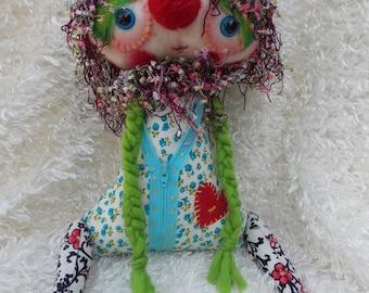 Handmade Art Doll (Kali) Ratty Tatty Monster