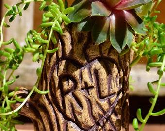 Ceramic Planter With Custom Initials