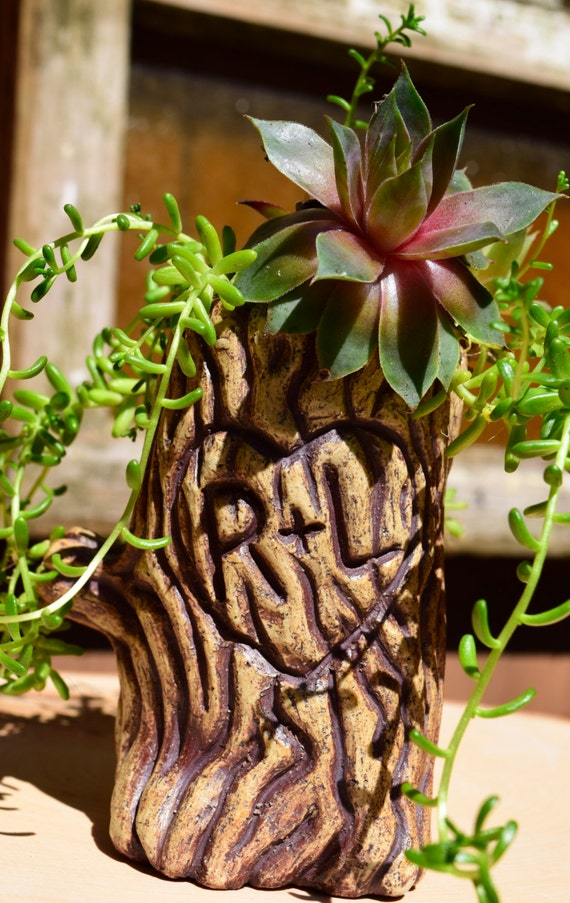 Ceramic Tree Planter With Custom Initials