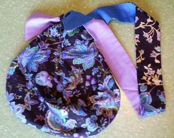 Floral purse, handbag, hobo bag, reversible
