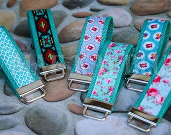 Floral Keyfob Keychain Wristlet | READY TO SHIP