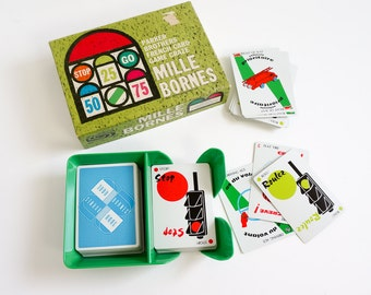 Vintage 1960s Card Game / Parker Brothers Mille Bornes French Card Game 1962 Complete VGC