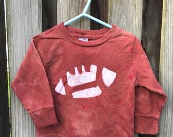 Baby Football Shirt, Brown Football Shirt, Boys Football Shirt, Girls Football Shirt, Super Bowl Shirt, Football Baby Gift (18 months) SALE
