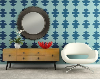 Mid Century Decor, Retro Wall Decal, Mid Century Decals, Modern Wall Decal, Geometric Wall Decals, Nursery Wall Decals, Apartment Wall Decor