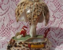 Galveston,Texas Souvenir Shell Palm Tree and Plastic Flamingo, Charming Kitschy Vintage