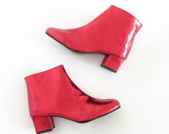 Edie Faux Leather Heeled Ankle Boots (Handmade to Order)