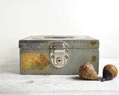 Metal Cash Box, Rustic Metal Storage Box, Industrial Storage