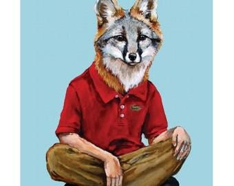Little Gray Fox - Print