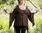 NEW: The Faerie Top in Brown by Opal Moon Designs (Size S, M, XL/Plus Size)