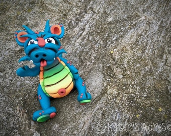 Polymer Clay Dragon 'Tilbert' - Limited Edition Handmade Collectible