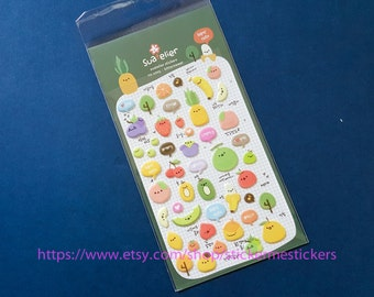 PUFFY fruit stickers - suatelier stickers
