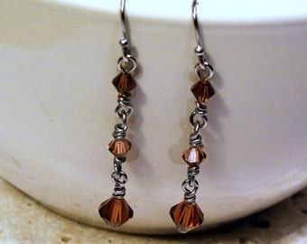 Topaz Icicle Earrings