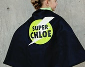 Personalized Name Superhero Cape Lightening Bolt White Lightning Black and Lime , 2T - 7T, cloak big brother quick ship