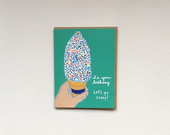 Scratch & Sniff Sprinke Cone Birthday Card