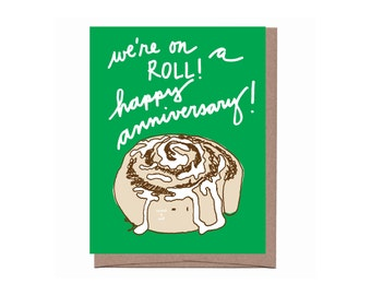 Scratch & Sniff Cinnamon Roll Anniversary Card