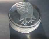 Goebel Frosted Owl Crystal Paperweight