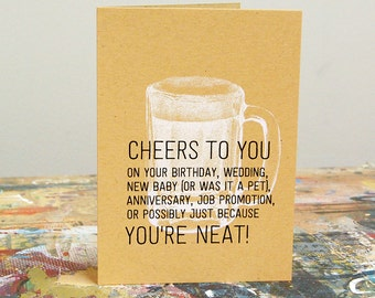Cheers to that awesome thing – Screenprint Card