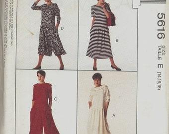Mc Calls 5616 Vintage Sewing Pattern uncut Nisses Dresses and Split Skirt