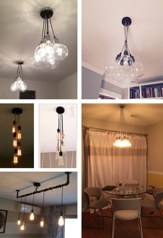 5 Pendant Light Cluster Any Colors Pendant Light
