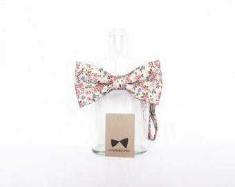 Amelia - Pink/ Blue Floral Men's Pre-Tied Bow Tie or Self-Tied Bow Tie