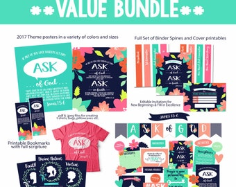 2017 Young Women Theme/Mutual Theme Value Bundle-Ask of God-Instant Download Printables-LDS