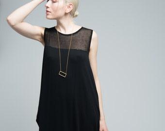 Maxi Dress / Jersey Dress / Long Oversize Dress / Sleeveless Dress / Summer Dress / Casual Dress / marcellamoda - MD663